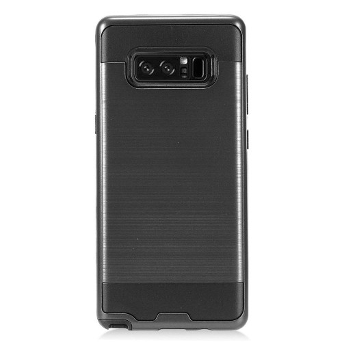Insten For Samsung Galaxy Note 8 Black Hard Hybrid Brushed Case Cover