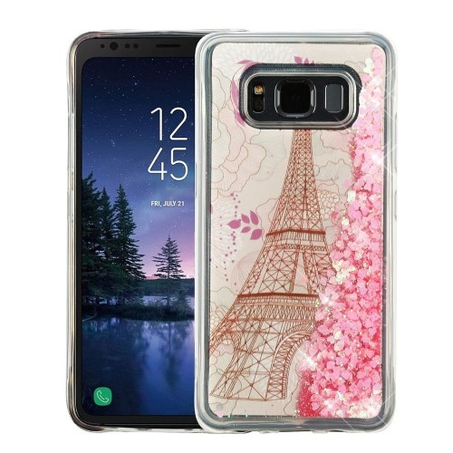 Insten For Samsung Galaxy S8 Active Pink Eiffel Tower Hard Hybrid Case Cover