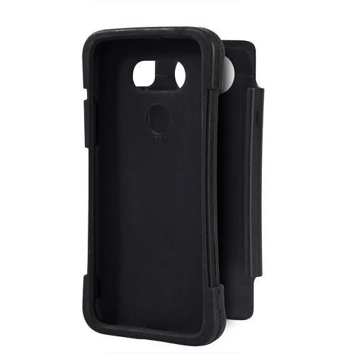 Insten For LG G5 Black Grippy Hard TPU Hybrid Plastic Case Cover