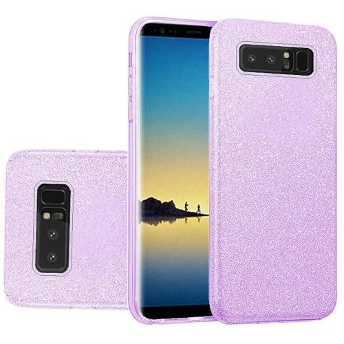 Insten For Samsung Galaxy Note 8 Dark Purple Hard TPU Glitter Case