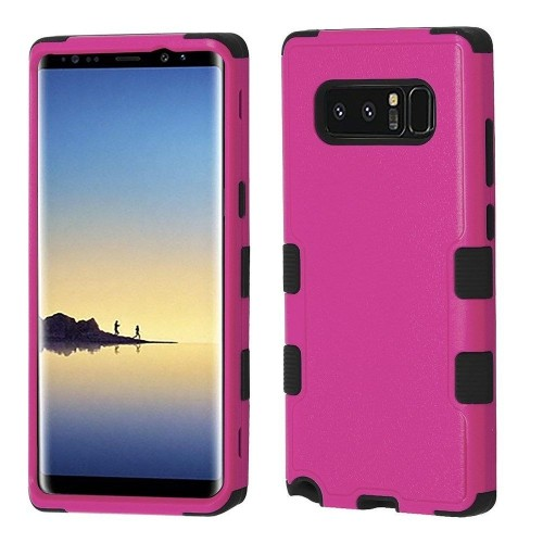 Insten For Samsung Galaxy Note 8 Hot Pink Black Tuff Hard TPU Hybrid Plastic Case