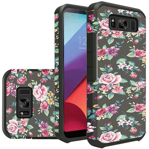 Insten For Samsung Galaxy S8 Active Multi-Color Tropical Flowers Hard Hybrid Case Cover
