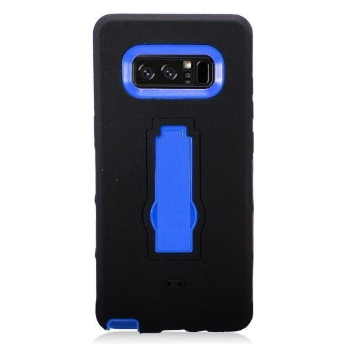Insten For Samsung Galaxy Note 8 Black Blue Gel Hard Hybrid Rubber Case w/stand