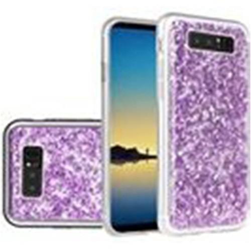 Insten For Samsung Galaxy Note 8 Purple Frozen Glitter Hard Hybrid Plastic Case