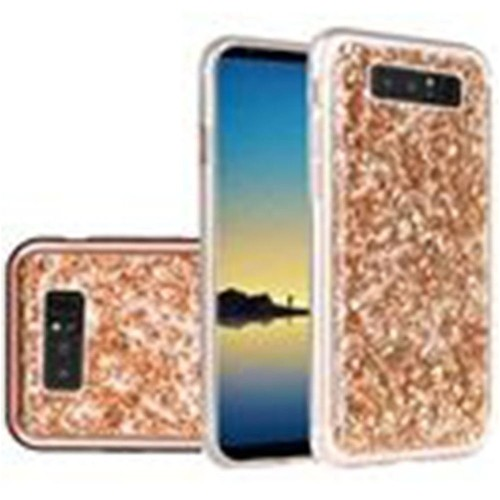 Insten For Samsung Galaxy Note 8 Rose Gold Frozen Glitter Hard Hybrid Plastic Case