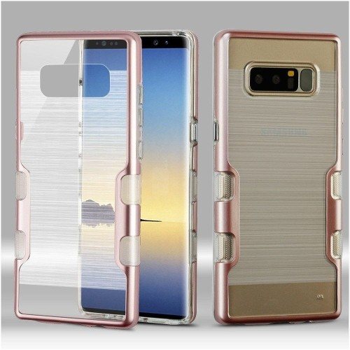 Insten For Samsung Galaxy Note 8 Clear Rose Gold Tuff Hard TPU Hybrid Case Cover