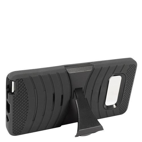 Insten For Samsung Galaxy Note 8 Black Wave Symbiosis Skin Hard Hybrid Case w/stand