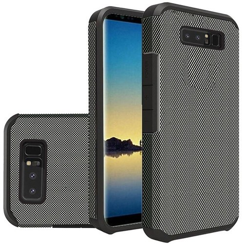 Insten For Samsung Galaxy Note 8 Black Carbon Fiber Hard TPU Hybrid Case Cover
