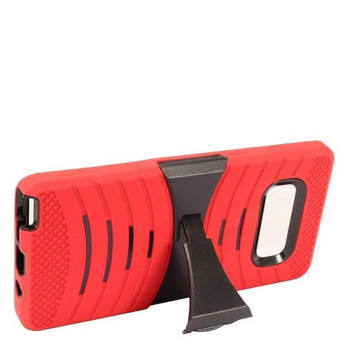 Insten For Samsung Galaxy Note 8 Red Wave Symbiosis Soft Hybrid Case Cover w/stand
