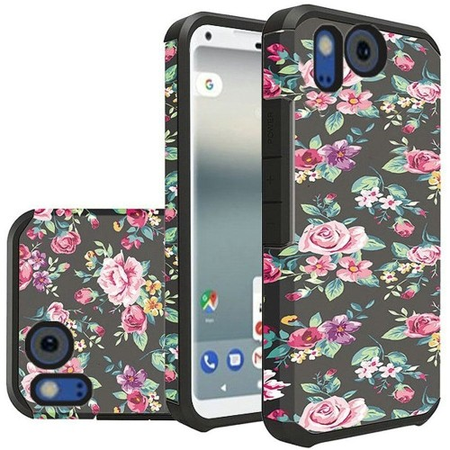 Insten For Google Pixel 2 XL Multi-Color Tropical Flowers Hard TPU Hybrid Case