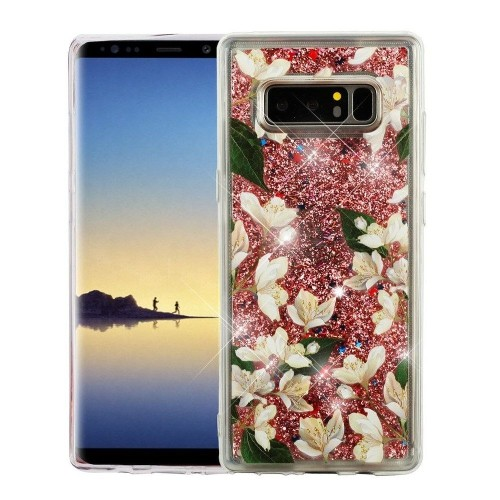 Insten For Samsung Galaxy Note 8 Multi-Color Sally Flower Hard Hybrid Case