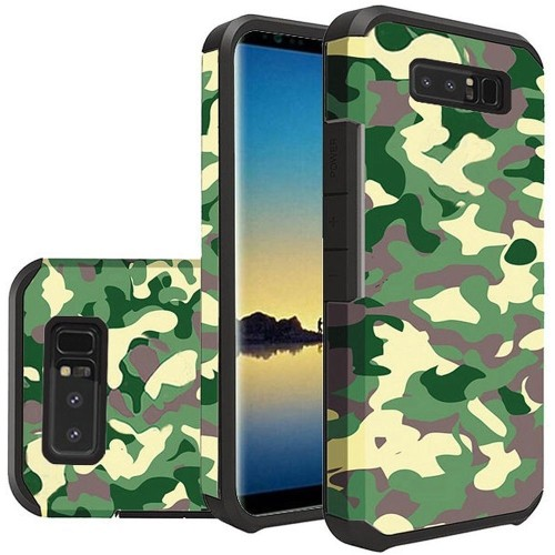 Insten For Samsung Galaxy Note 8 Green Black Camouflage Hard TPU Hybrid Case