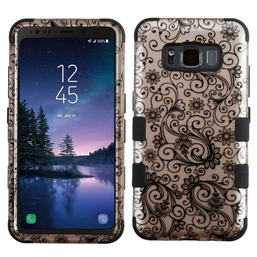 Insten For Samsung Galaxy S8 Active Rose Gold Four-leaf Clover Hard Hybrid Case Cover