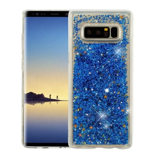 Insten For Samsung Galaxy Note 8 Blue Quicksand Glitter Hard TPU Hybrid Case Cover