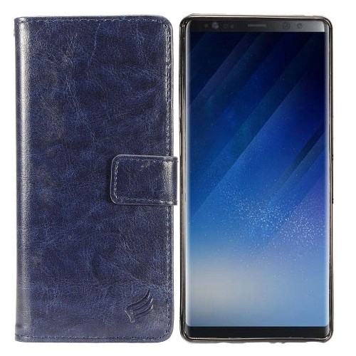 Insten For Samsung Galaxy Note 8 Navy Blue Detachable Magnetic Leather Case Cover