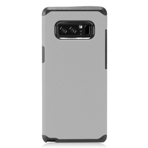 Insten For Samsung Galaxy Note 8 Gray Black Hard Hybrid Plastic Case