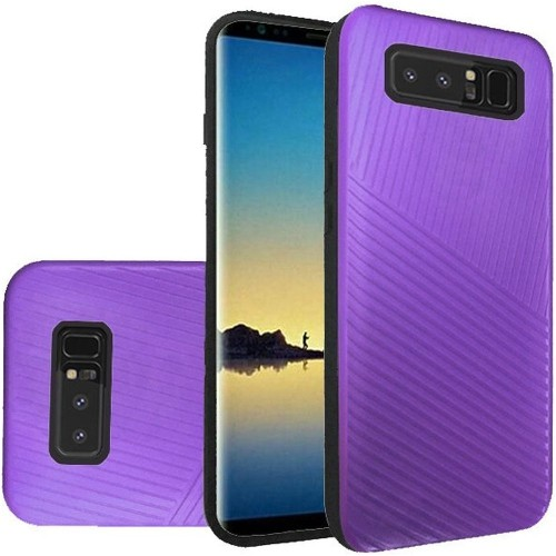 Insten Fitted Soft Shell Case for Samsung Galaxy Note 8 - Dark Purple