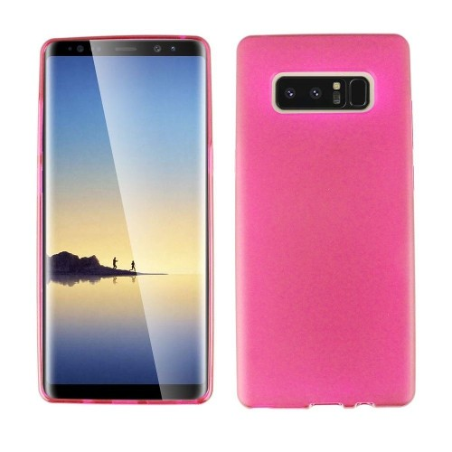 Insten For Samsung Galaxy Note 8 Clear Hot Pink Soft Rubber Case