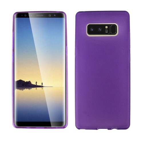 Insten For Samsung Galaxy Note 8 Clear Purple Skin Rubber Case Cover