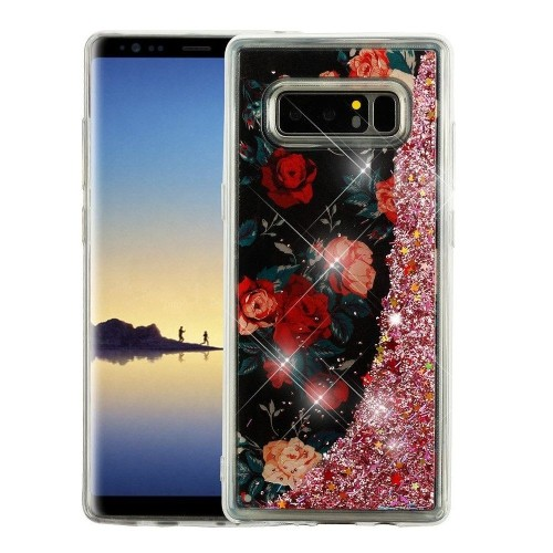 Insten For Samsung Galaxy Note 8 Multi-Color Roses Hard Hybrid Case Cover