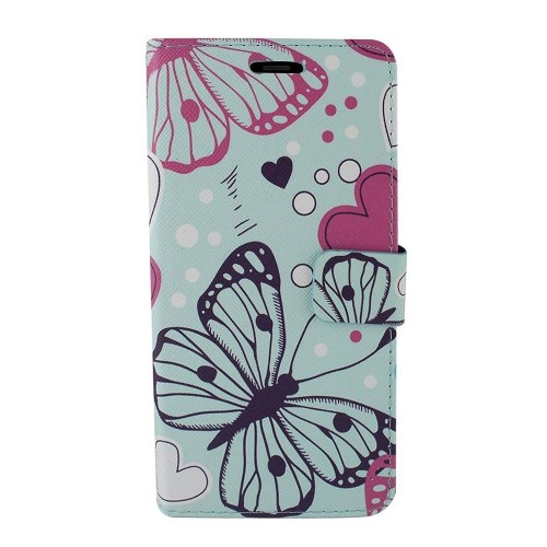 Insten For Samsung Galaxy Note 8 Multi-Color Butterflies Leather Case Cover w/stand