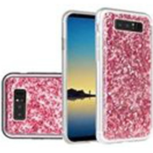 Insten For Samsung Galaxy Note 8 Pink Frozen Glitter Hard Hybrid Plastic Case