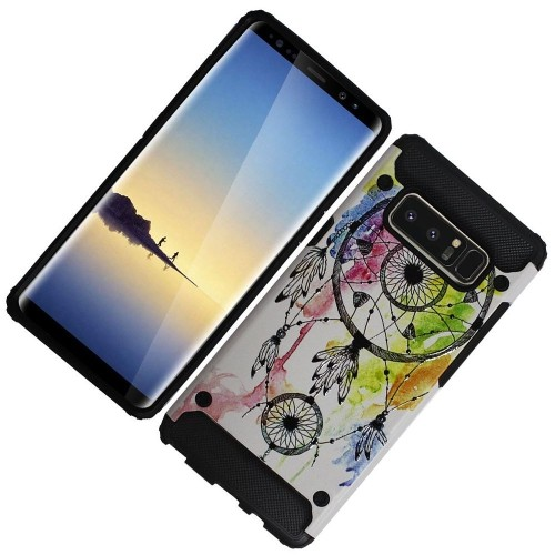 Insten For Samsung Galaxy Note 8 Multi-Color Dreamcatcher Hard TPU Hybrid Case Cover