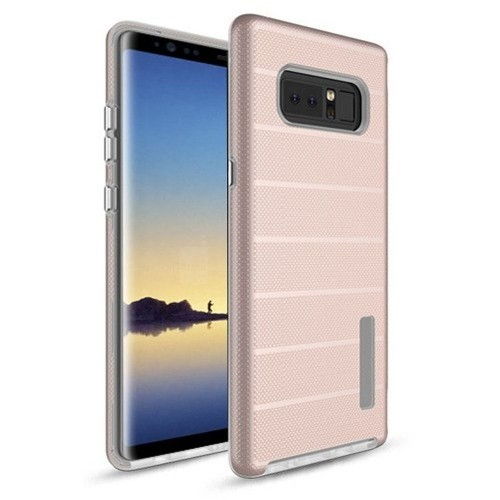 Insten For Samsung Galaxy Note 8 Rose Gold Dots Textured Fusion Hard Hybrid Case Cover