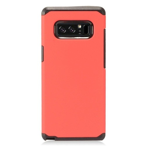 Insten For Samsung Galaxy Note 8 Red Black Hard Hybrid Plastic Case Cover