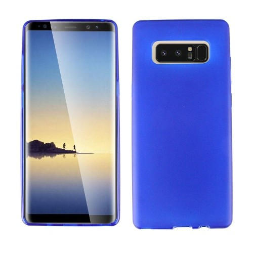 Insten For Samsung Galaxy Note 8 Clear Blue Gel Rubber Case Cover
