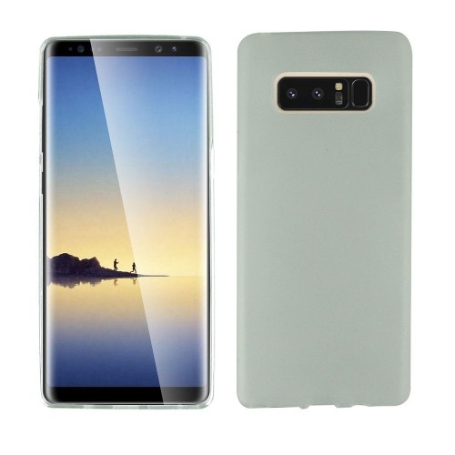 Insten For Samsung Galaxy Note 8 Clear White Soft Rubber Case Cover