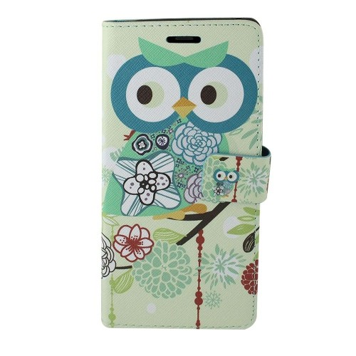 Insten For Samsung Galaxy Note 8 Multi-Color Owl Leather Fabric Case Cover w/stand