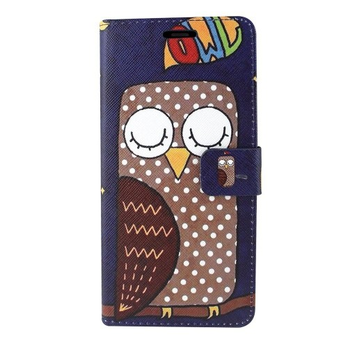 Insten For Samsung Galaxy Note 8 Multi-Color Owl Leather Fabric Case w/stand