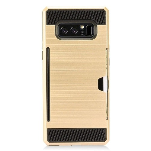 Insten Fitted Soft Shell Case for Samsung Galaxy Note 8 - Gold;Black