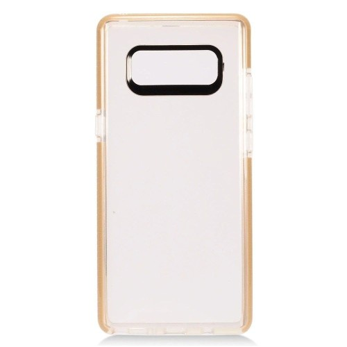Insten For Samsung Galaxy Note 8 Clear Gold Hard TPU Plastic Case Cover