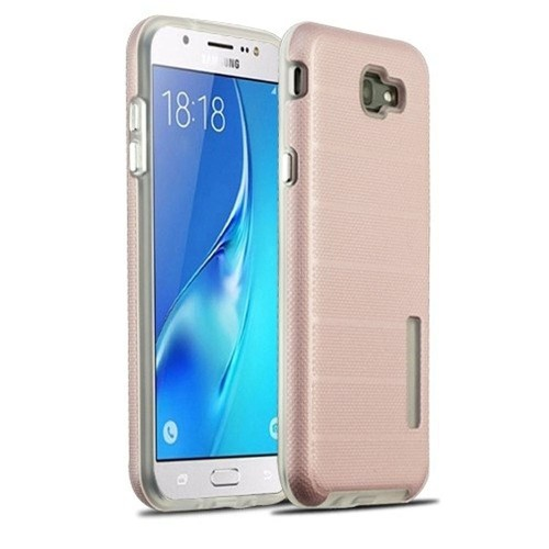 Insten For Samsung Galaxy Halo/J7 (2017)/J7 Perx/J7 Prime/J7 Sky Pro/J7 V Rose Gold Hard Hybrid Case
