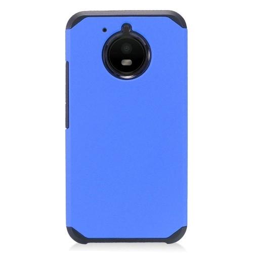 Insten For Motorola Moto E4 Plus Blue Black Hard Hybrid Plastic Case Cover