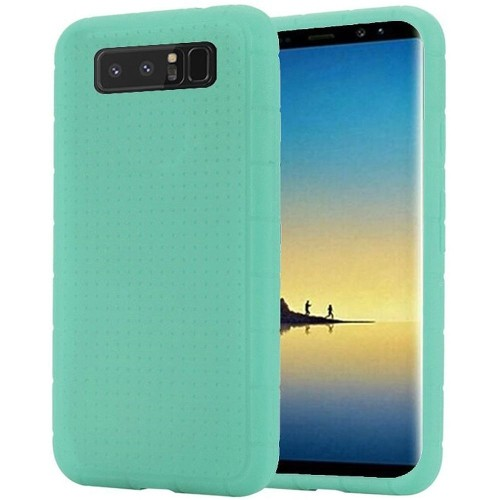 Insten For Samsung Galaxy Note 8 Teal Rugged Gel Rubber Case Cover