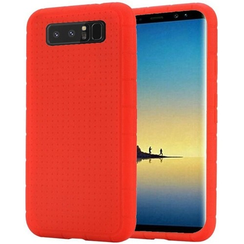 Insten For Samsung Galaxy Note 8 Red Rugged Gel Rubber Case Cover