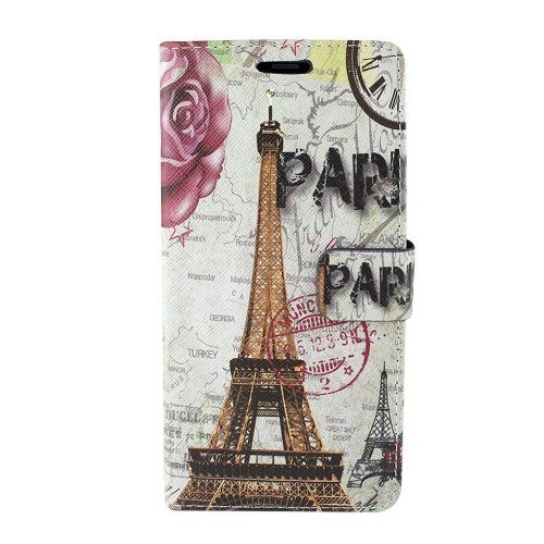 Insten For Samsung Galaxy Note 8 Multi-Color Eiffel Tower Leather Case Cover w/stand