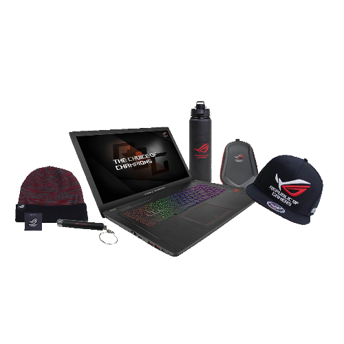 "Ensemble Laptop de Jeu ASUS ROG GL753VD-Q52P-CB 17.3"" i5-7300HQ GTX 1050 12 GB RAMs"