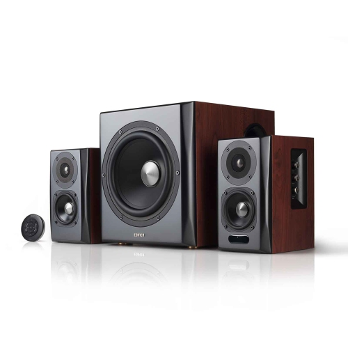 Edifier S350DB Bookshelf Speaker and Subwoofer 2.1 Speaker System Bluetooth v4.1 aptX Wireless Sound For Computer, Home Audio