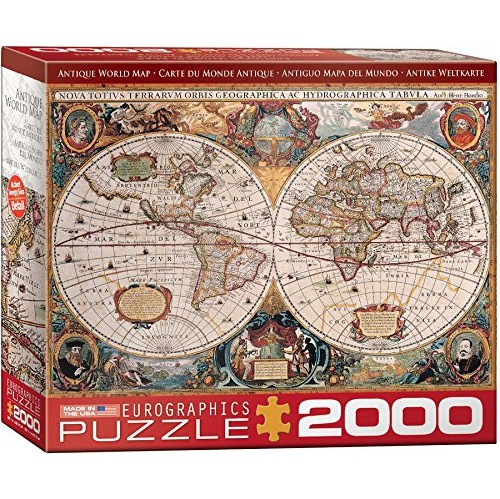 Eurographics antique map of the world jigsaw puzzle 2000 piece eurographics antique map of the world jigsaw puzzle 2000 piece online only gumiabroncs Gallery
