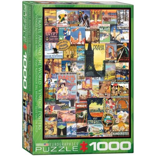 Eurographics Travel The World Vintage Ads Jigsaw Puzzle