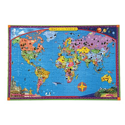 Eeboo world map puzzle 100 pieces puzzles best buy canada eeboo world map puzzle 100 pieces gumiabroncs Images