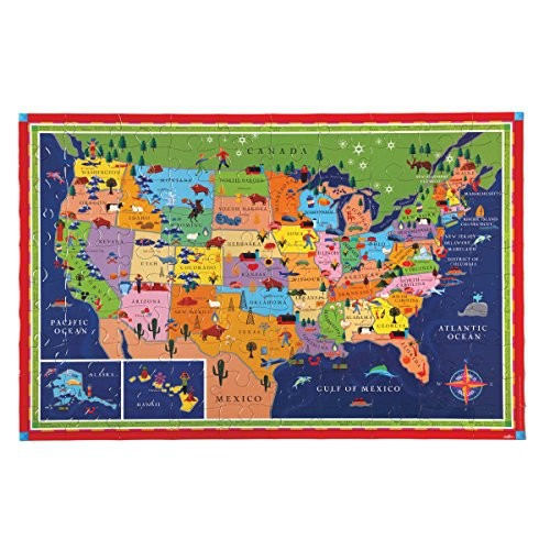 United States Map Puzzles.Eeboo United States Map Puzzle 100 Pieces Puzzles Best Buy Canada