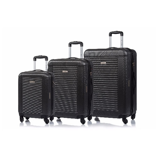 CHAMPS Luggage Broadway Collection 3 Piece Hard Side 4 Wheeled Expandable Set