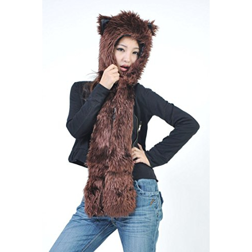 Brown Bear Full Animal Hood Hoddie Hat Faux Fur 3 In 1 Function   Plush  Toys - Best Buy Canada 0da0fc6622f