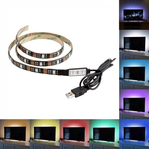Megapower Tm 1 Meter 3ft Bias Led Lighting Strip Usb Powered Rgb