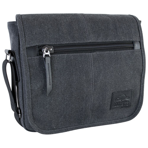 Sac de messager de Roots 73 pour portable de 12 po - Gris